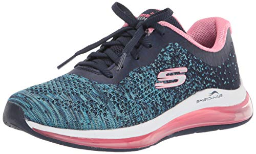 Skechers Skech-Air Element 2.0-Dance T, Zapatillas para Mujer, Azul (Navy & Blue Knit Mesh/Hot Pink Trim Nvhp), 39 EU