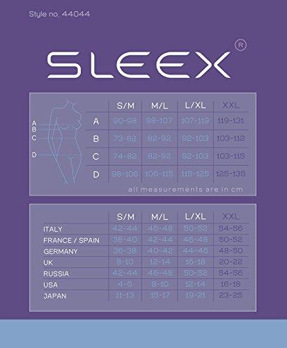 SLEEX Camiseta Moldeadora - Underbust (Desgaste con su Sujetador), Negro, Talla M/L (44044)
