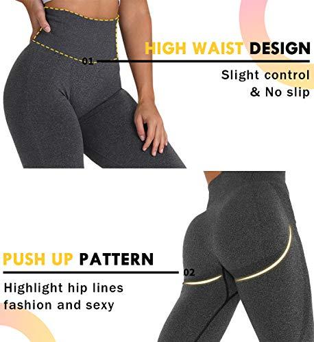 SLIMBELLE Mallas Push up Mujer Leggings Shorts Deportivos Pantalones Yoga Leggins de Cintura Alta Bolsillos Cortos Pantalón Deporte Verano para Fitness Correr Entrenamiento