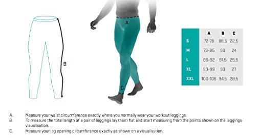 SMMASH Graffiti Deportivo Largo Leggins Hombre, Pantalones Largo Deporte Dombre por un Gimnasio de Yoga Corrientes, Material Transpirable y Antibacteriano, (L)