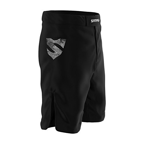 SMMASH Reaper Deporte Profesionalmente Pantalones Cortos MMA para Hombre, Shorts MMA, BJJ, Grappling, Krav Maga, Material Transpirable y Antibacteriano, (M)