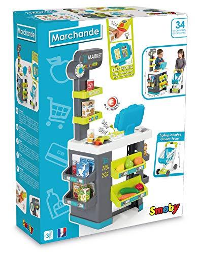 Smoby- Mercado Market con Carrito luz y Sonido, Multicolor (Simba 350212)