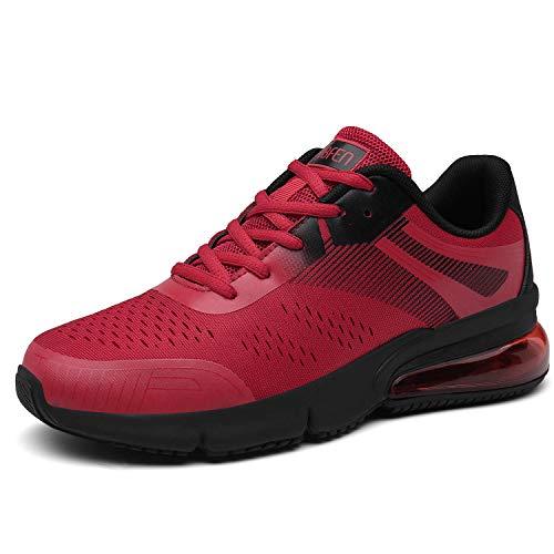 SOLLOMENSI Calzados para Correr en Asfalto para Hombre Mujer Zapatillas Deporte Running Gimnasio Sneakers Deportivas Transpirables Casual Zapatos