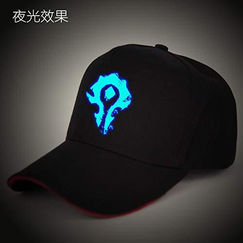 Sombrero de Anime Gorra de béisbol Luminosa Sombrero de Dibujos Animados Masculino Lengua de Pato Sombrero de ala Plana Sombrero de Hip-Hop Femenino Tendencia