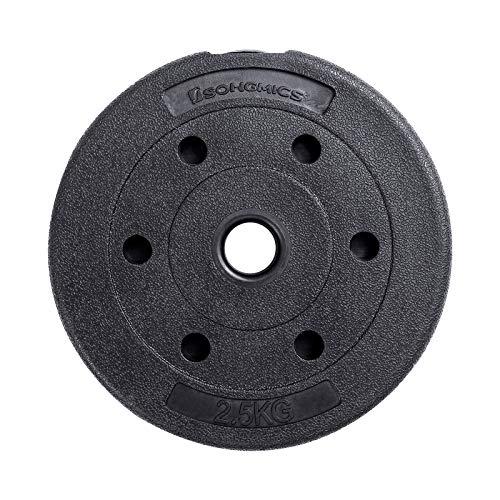 SONGMICS 30 kg Juego de Pesas Mancuernas de Fitness Ideal para Hombres Negro SYL30HV1