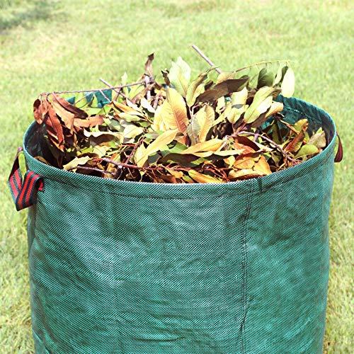 SONGMICS Bolsas para Desechos de Jardín, Saco para Residuos, Juego de 3 Unidades con Capacidad de 272L, Verde GTS272L