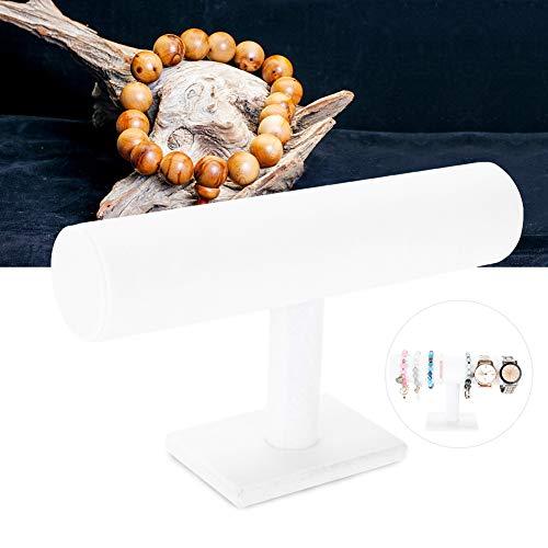 Soporte de barra en T para joyería que muestra el titular Reloj pulsera Organizador de exhibición Rack Holder