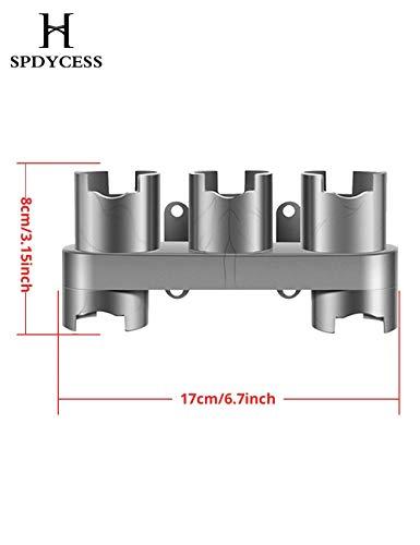 Soporte para accesorios para aspiradora V7 V8 V10 V11 Accesorios Montaje en pared Soporte para bastidor de almacenamiento Aspiradora inalámbrica Estación de acoplamiento Herramientas Organizador