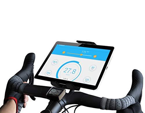 Soporte Tablet Bici estatica Compatible con iPad Bicicleta Ejercicios Gym Spinning valido para Cualquier Manillar