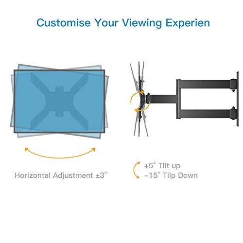 Soporte TV de Pared Articulado Inclinable y Giratorio para Pantallas de 26-55 Pulgadas, hasta 40 kg, MAX VESA 400x400mm