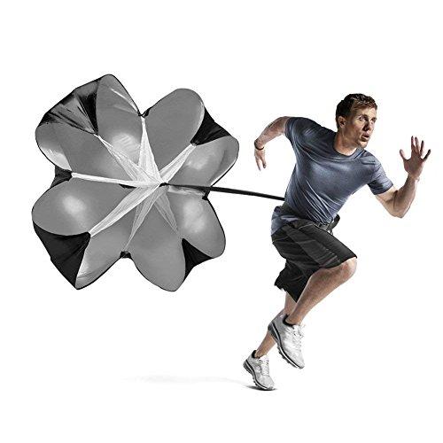 Speed Chute Correr Entrenamiento de velocidad 56 Pulgadas de Resistencia corriendo Sprint para fútbol de fútbol Deportes de entrenamiento de velocidad y entrenamiento físico de fuerza