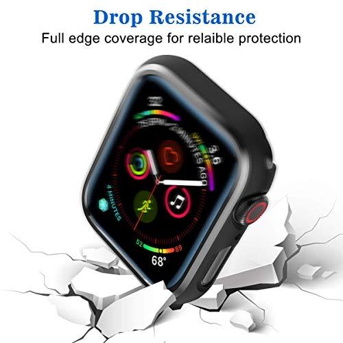 SPORTLINK Apple Watch Funda, Rugged Armor Bumper para iWatch Apple Watch Series 5 / Series 4 44mm Case (2 Unidades - Negro)