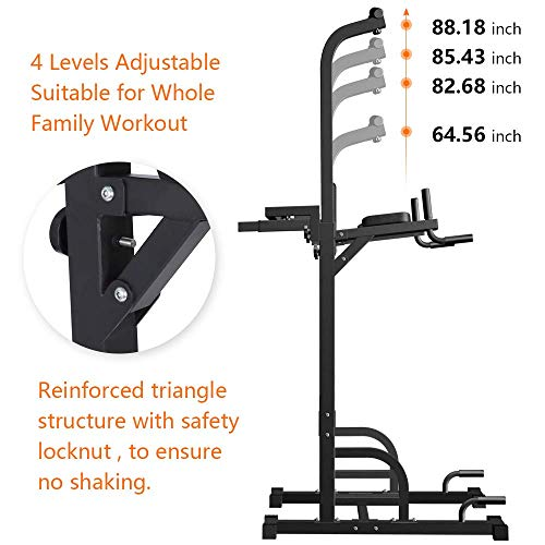 Sportsroyals Power Tower Dip Station Pull Up Bar for Home Gym Strength Training Workout Equipment, 200KG.