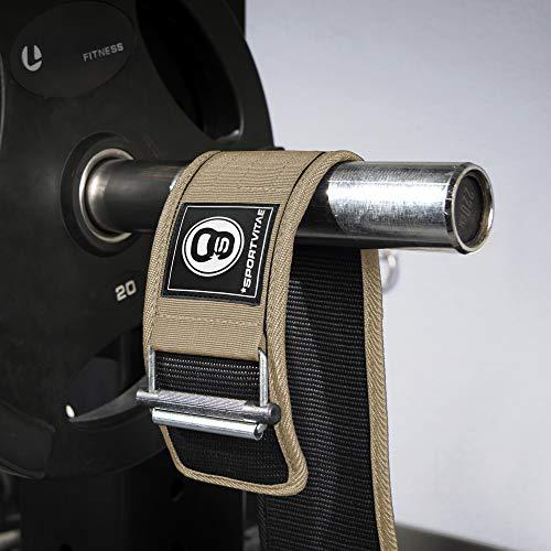 Sportvitae - Cinturón AUTOBLOCANTE Levantamiento de Pesas Nailon - Ideal Crossfit Musculación Halterofilia Powerlifting Fitness Entrenamientos de Fuerza - Ligero Resistente Ajustable - Hombre y Mujer