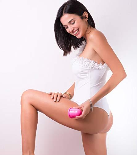 Stephanie Franck Beauty Set Anticelulitico3 con Rodillo Masaje, una Ventosa S+L y Elastica Fitness (Rosa)