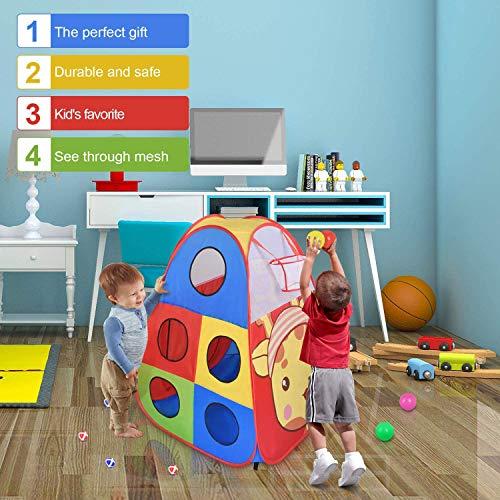 STLOVe Tienda de Juegos para niños, Tienda de Juegos para niños bebés y niños pequeños para Interiores y Exteriores Casa de Juegos para niños, Bolsa de Almacenamiento, no Incluye Pelotas