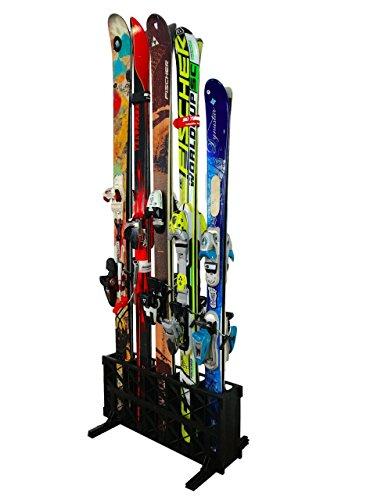 StoreYourBoard Portaesquís, portaesquís Independiente de 5 Pares, (Esquís estándar)