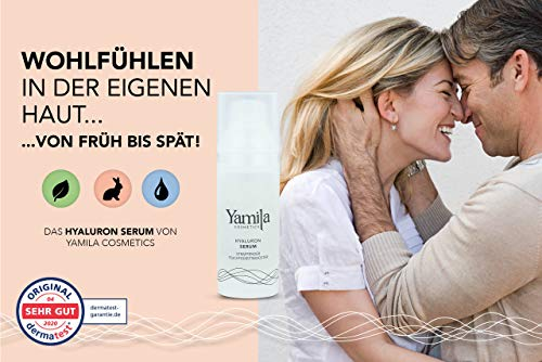SUERO HIALURÓNICO - humedad reafirmante - 50 ml de Yamila Cosmetics - suero ácido hialurónico para el cuello cara y el pecho conveniente conveniente para hombres y mujeres para microneedling cosmética