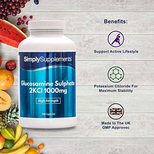 Sulfato de Glucosamina 1000mg - ¡Bote para 1 año! - 360 Comprimidos - SimplySupplements
