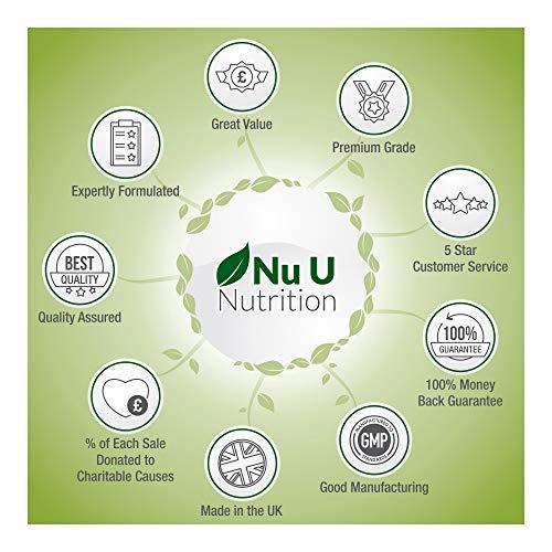 Sulfato de Glucosamina 1.500 mg 2KCl, 365 comprimidos (Suministro Para 1 Año) | Alta Potencia | Fabricado en el Reino Unido por Nu U Nutrition.