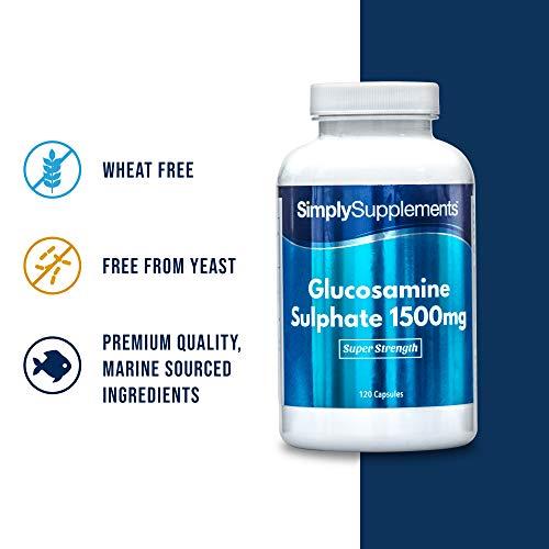 Sulfato de Glucosamina 1500mg - ¡Bote para 8 meses! - 240 Cápsulas - SimplySupplements
