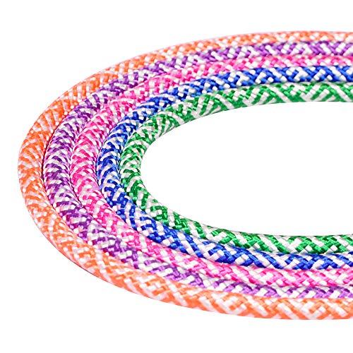 Sunshine smile Cuerda para Saltar Ajustable, Saltar la Cuerda de Boxeo y Mango de Espuma, Saltar la Cuerda de Boxeo, Cuerda de Saltar Cuerda de Velocidad (Violeta Claro)