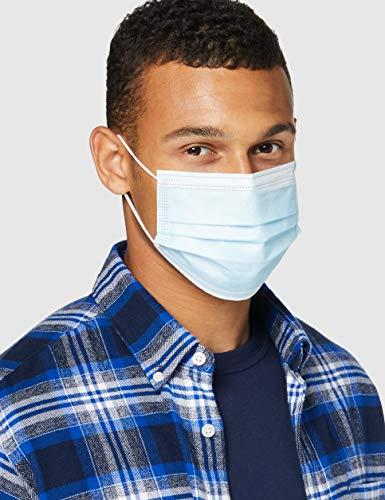 Supa Labs Mascarilla Quirúrgica Médica Tipo I de 3 Capas, Verificada y Probada por CE, No Estéril (Paquete de 50 Máscaras)