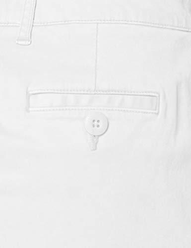 Superdry Chino Hot Short Pantalones Cortos, Blanco (Optic 01c), M para Mujer