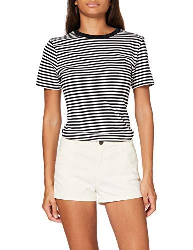 Superdry Chino Hot Short Pantalones Cortos, Marfil (Oyster PCB), S para Mujer