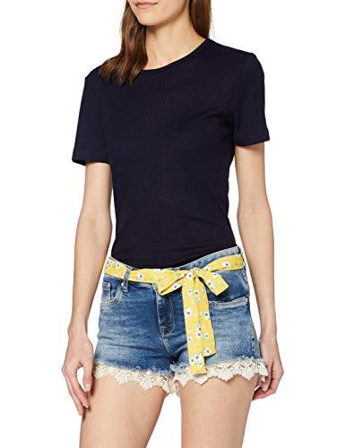 Superdry Lace Hot Short Pantalones Cortos, Azul (Summer House Blue T5t), 42 (Talla del Fabricante: 29) para Mujer