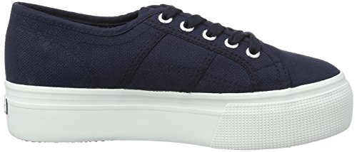 Superga 2790acotw Linea Up and Down, Zapatillas de Gimnasia para Mujer, Azul (Navy-FWhite F43), 40 EU