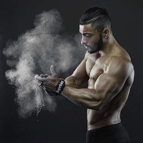 SUPRBIRD Calleras para Crossfit - Grips 3H Fibra de Carbono – Guantes de Gimnasio para Protección de Manos - Diseño 2020 Ergonómico Hombre y Mujer - Gym Fitness Halterofilia