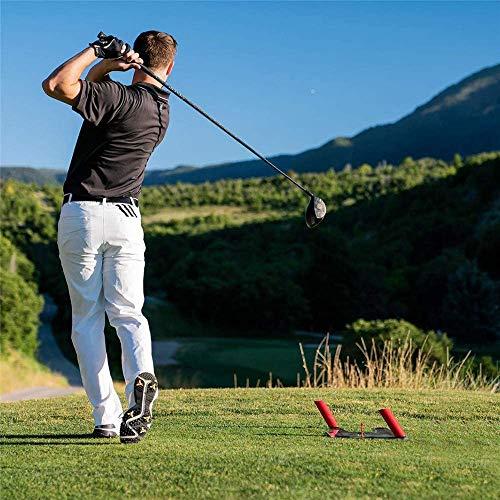 Swing de Golf Entrenador, Ayuda a la formación de Golf, Campo de Trampa de Velocidad Base, Práctica Golf Assist línea del Swing Diseñado para los hierros, Maderas,Rojo