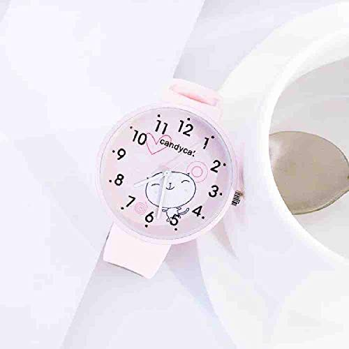 SWJM Moda Estilo Harajuku Relojes Mujeres pinkblue studentgirl Reloj de Pulsera Simple Candy Correa de Silicona Reloj relogio Feminino Rosa