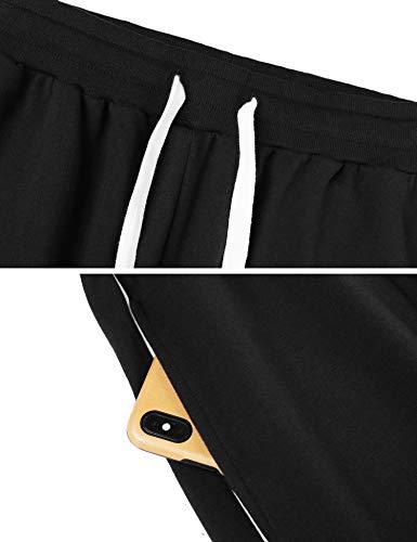 Sykooria Pantalones Largos Deportivos para Hombre Pantalón Chándal de Algodón Cintura Ajustable con Bolsillo y Raya Jogger Fitness Correr Casual