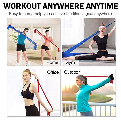 SYOSIN Bandas Elasticas Fitness 3 Piezas Bandas de Ejercicio, con Anclas de guía de Entrenamiento, para el Entrenamiento de Todo el Cuerpo Ideales para Fisioterapia, Yoga, Pilates,Mujer y Hombre