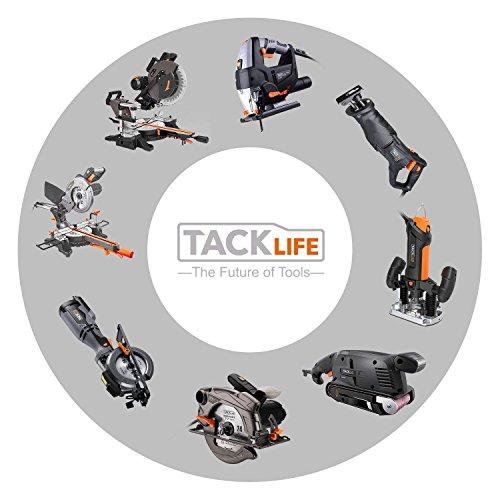 TACKLIFE Discos de Lija 125mm, 100PCS de 40, 60, 80, 100, 150, 180, 240, 320, 400, 800 Granos, Papel de Lija Abrasivo con 8 Agujeros, Gancho y Bucle Durable para Lijadora Orbital, Cambio Rápido, ASD1A