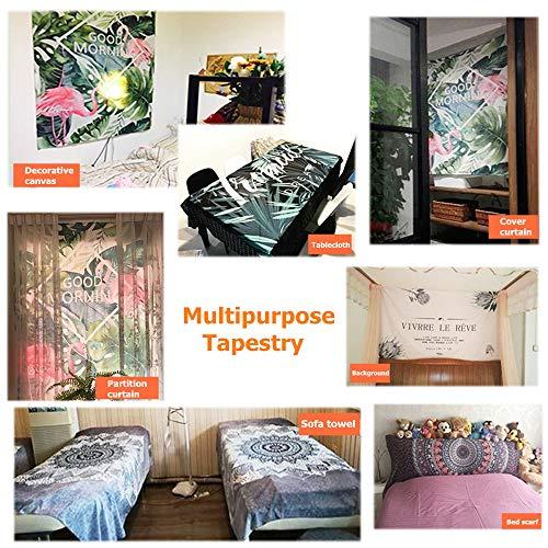 Tapiz Pared de Creativo Tapicería Tapices Impreso, Morbuy Decoración Cubierta del Sofa Manteles Cortina Picnic Playa Accesorio Casero Hippie Yoga (Mundo Singular Naranja,230x180cm)
