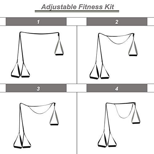 Tapusen Kit de Entrenamiento físico - Kit de Entrenamiento de suspensión Gimnasio Profesional Correas de Entrenamiento físico para Ejercicios de Gimnasio en el hogar (Simple y liviano)