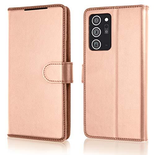 TECHGEAR Funda Compatible con Samsung Galaxy Note 20 Ultra - Magnético Carcasa Protectora de Cuero con Ranuras para Tarjetas, Soporte y Correa de muñeca - Polipiel para Samsung Note 20 ultra funda