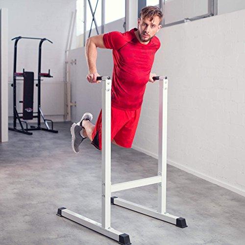 TecTake Aparato musculación Flexiones Dip Brazos Triceps Abdominales Pecho Espalda