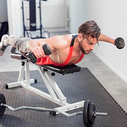TecTake Banco de musculación Ajustable inclinación   Respaldo y Asiento Regulable