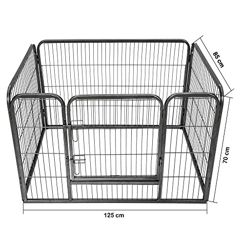 TecTake Parque para Mascotas Valla Libre Corriendo Jaula para Animales - Varios Modelos - (Rectangular   no. 401718)