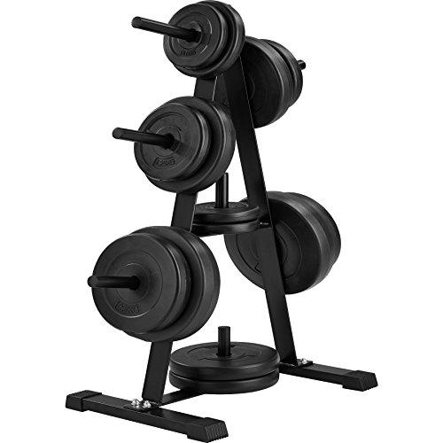 TecTake Soporte para discos de pesas con 7 barras | Diámetro de la toma de discos 25 mm | Resistencia 200 kg