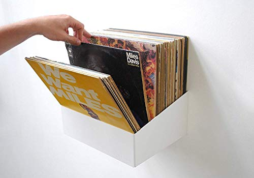 Teebooks Almacenaje para vinilos, Acero , Blanco 15 x 25 x 32 cm