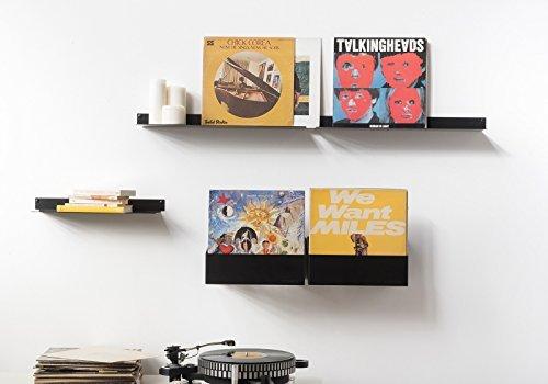 TEEbooks - Estantería para Discos de Vinilo - Negro - 60 LPs