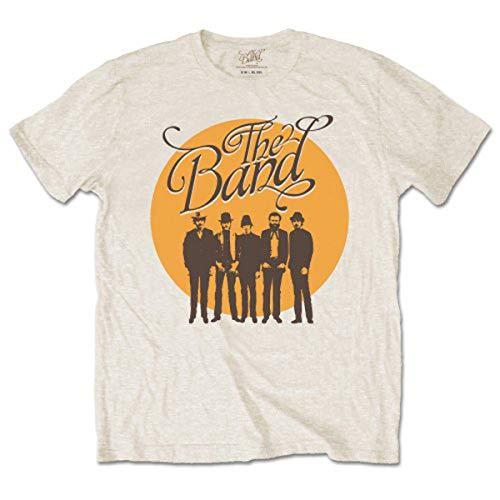 The Band Cirlce Loge Camiseta Manga Corta, Beige, XL para Hombre