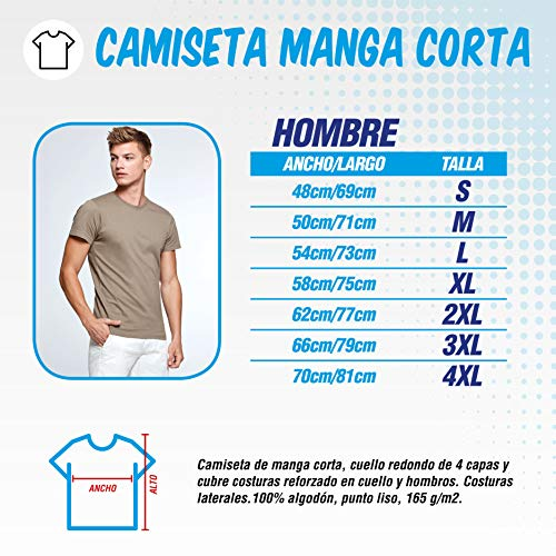 The Fan Tee Camiseta de Hombre Crossfit Deporte Gimnasio Gym Pesas 015 M