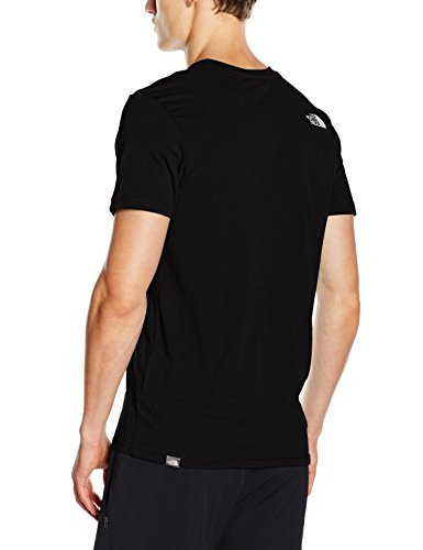 The North Face T92TX5 Camiseta De Manga Corta Simple Dome, Hombre, Negro (TNF Black), M
