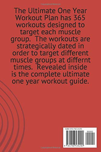 The Ultimate One Year Workout Plan: 365 workouts for every muscle group in your body